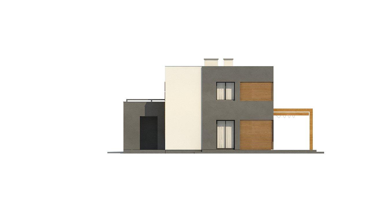 Двухэтажный коттедж современного лаконичного дизайна 14