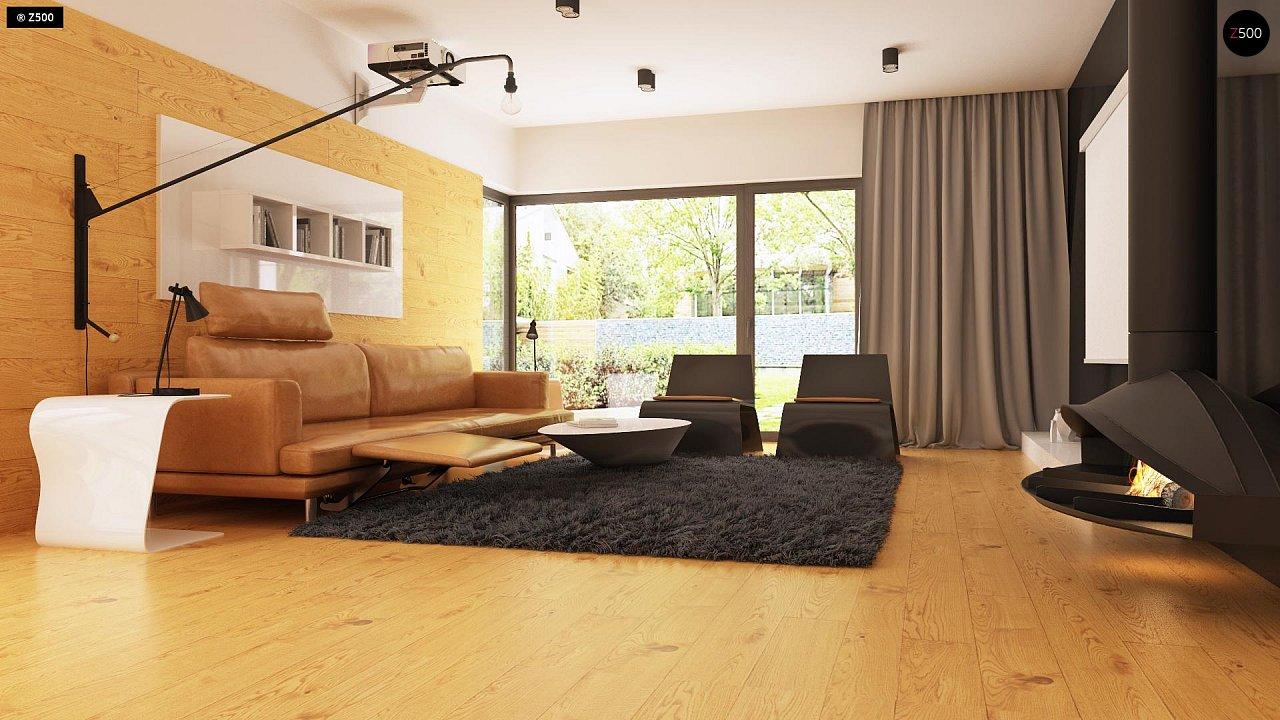 Одноэтажный дом модернистского характера с гаражом для двух автомобилей. 5