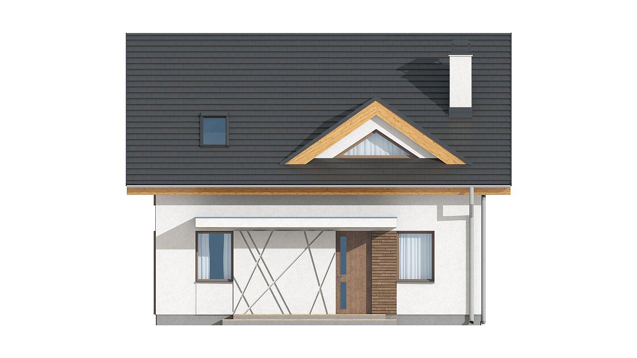Небольшой стильный и практичный дом с мансардными окнами. - фото 14