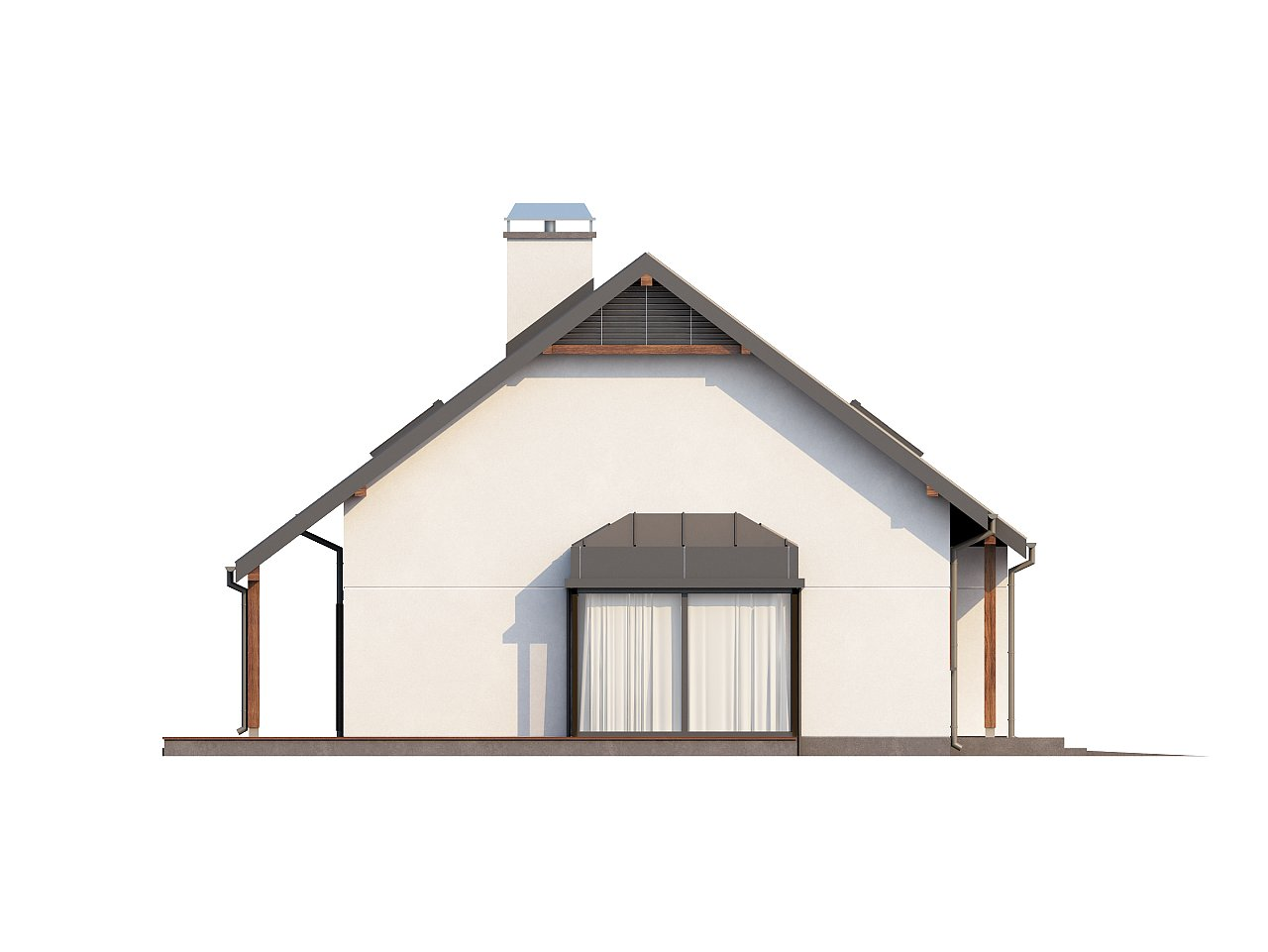 Практичный дом с мансардой, гаражом, кабинетом на первом этаже и стильным эркером. 5