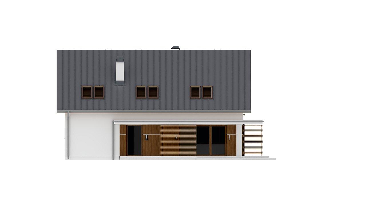 Аккуратный дом простой традиционной формы с гаражом и дополнительной спальней на первом этаже. 22