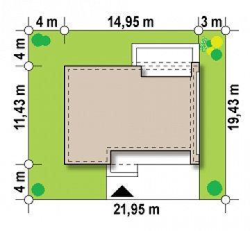 Версия проекта Zx102 без гаражного помещения. план помещений 1