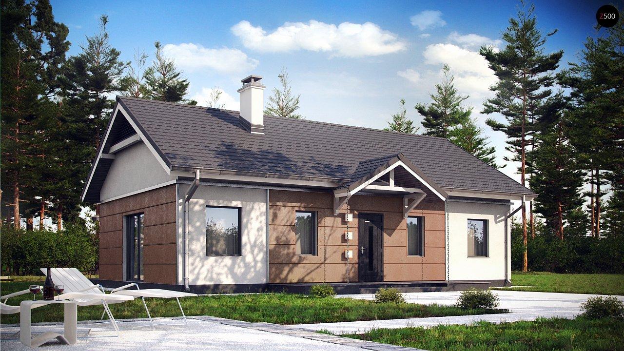 Аккуратный одноэтажный дом в классическом стиле. - фото 1