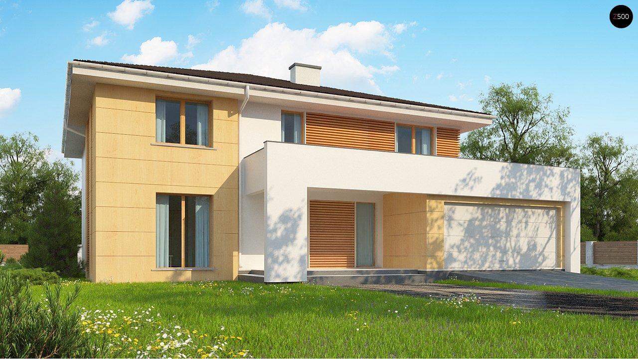 Проект комфортабельного двухэтажного коттеджа современного дизайна 1