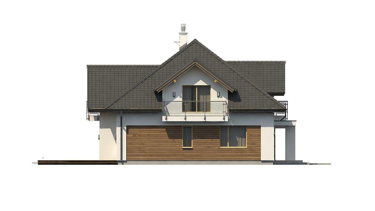 Просторный дом с большими фасадными окнами, с гаражом для двух автомобилей. - фото 8