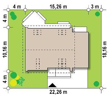 Версия типового проекта Z266 c изменениями в планировке план помещений 1