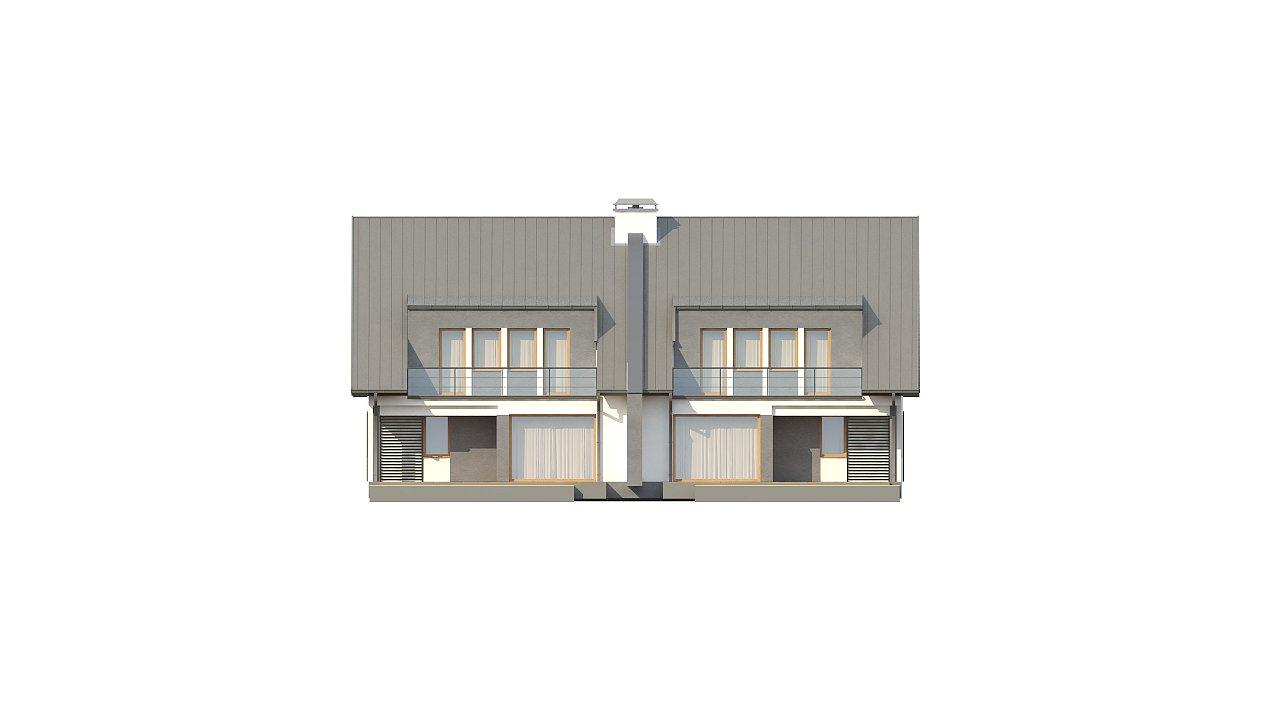 Проект домов близнецов для двух дружественных семей. - фото 3