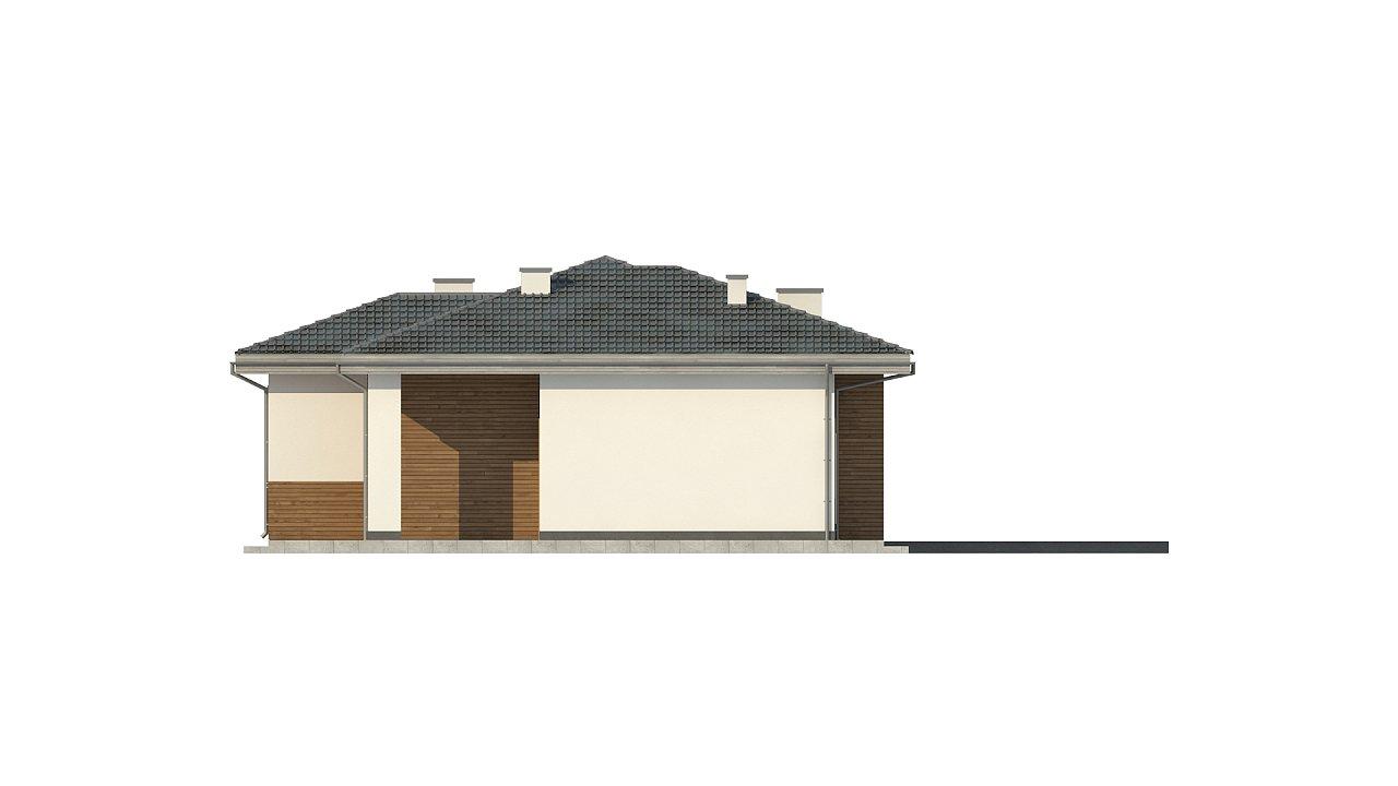 Красивый и комфортный однэтажный дом с цоколем 7