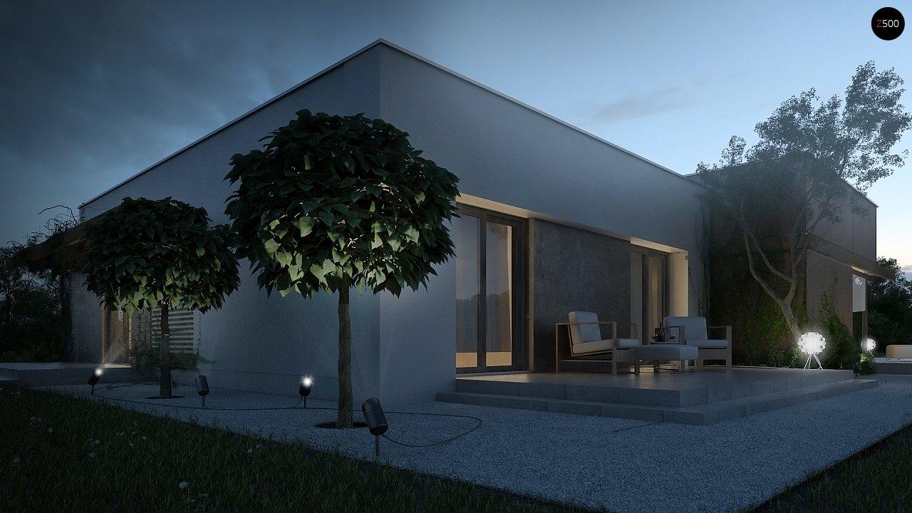 Одноэтажный дом в стиле хай-тек с четырьмя спальнями. - фото 9