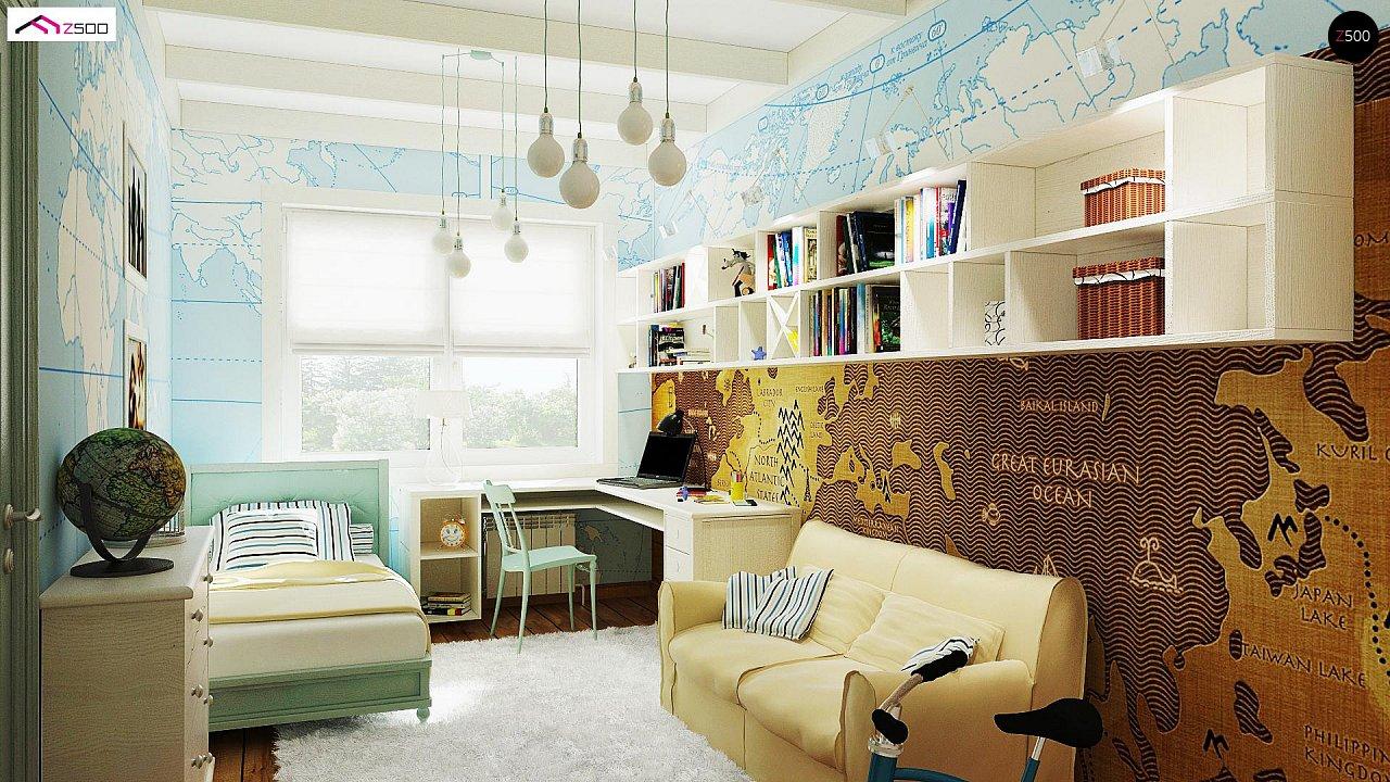 Одноэтажный удобный дом с фронтальным гаражом, с возможностью обустройства мансарды. - фото 9