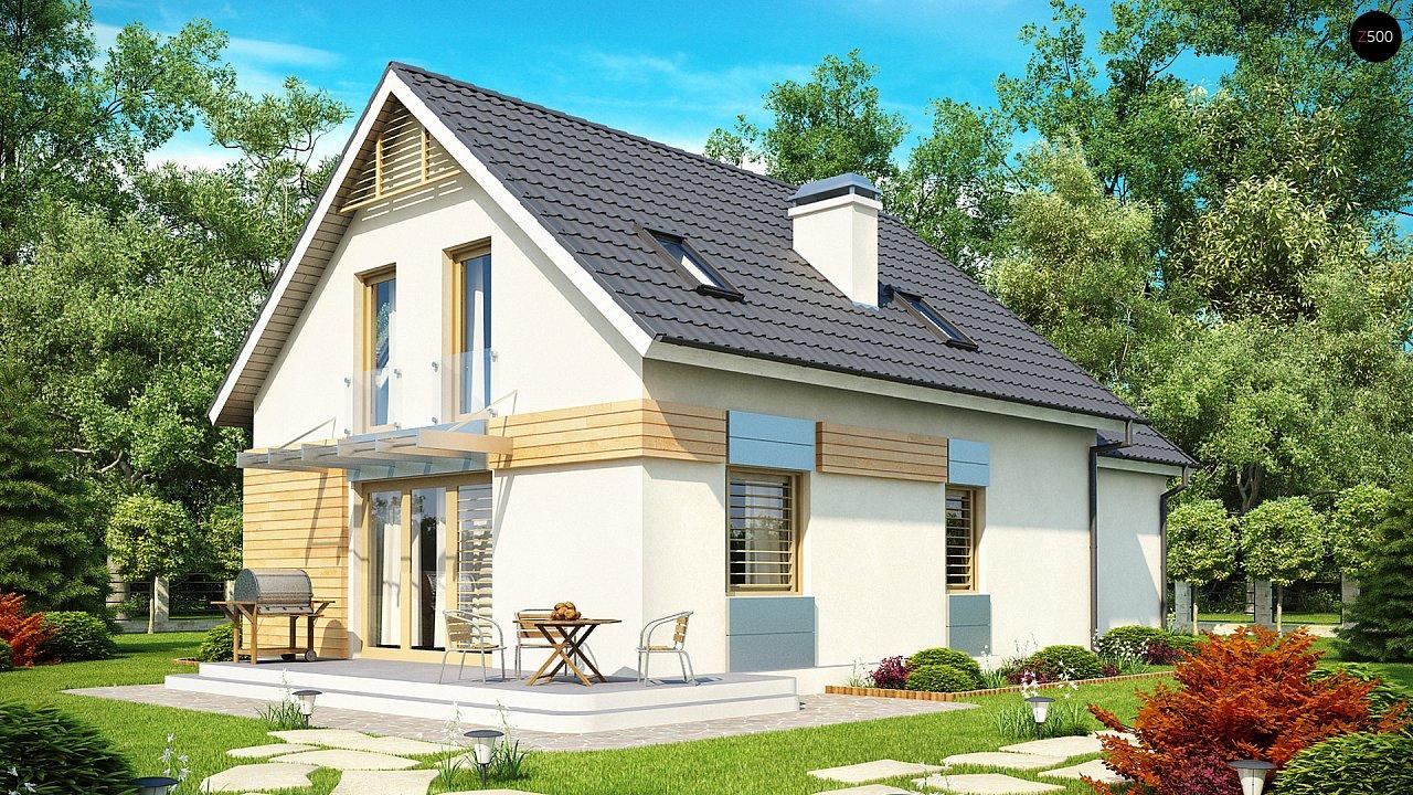 Традиционный практичный дом с современными элементами архитектуры. 2