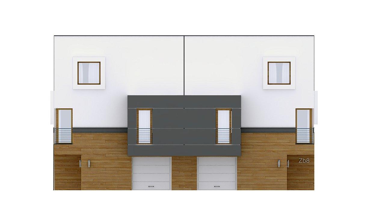 Дома для симметричной застройки с гаражом оригинального современного дизайна. 3