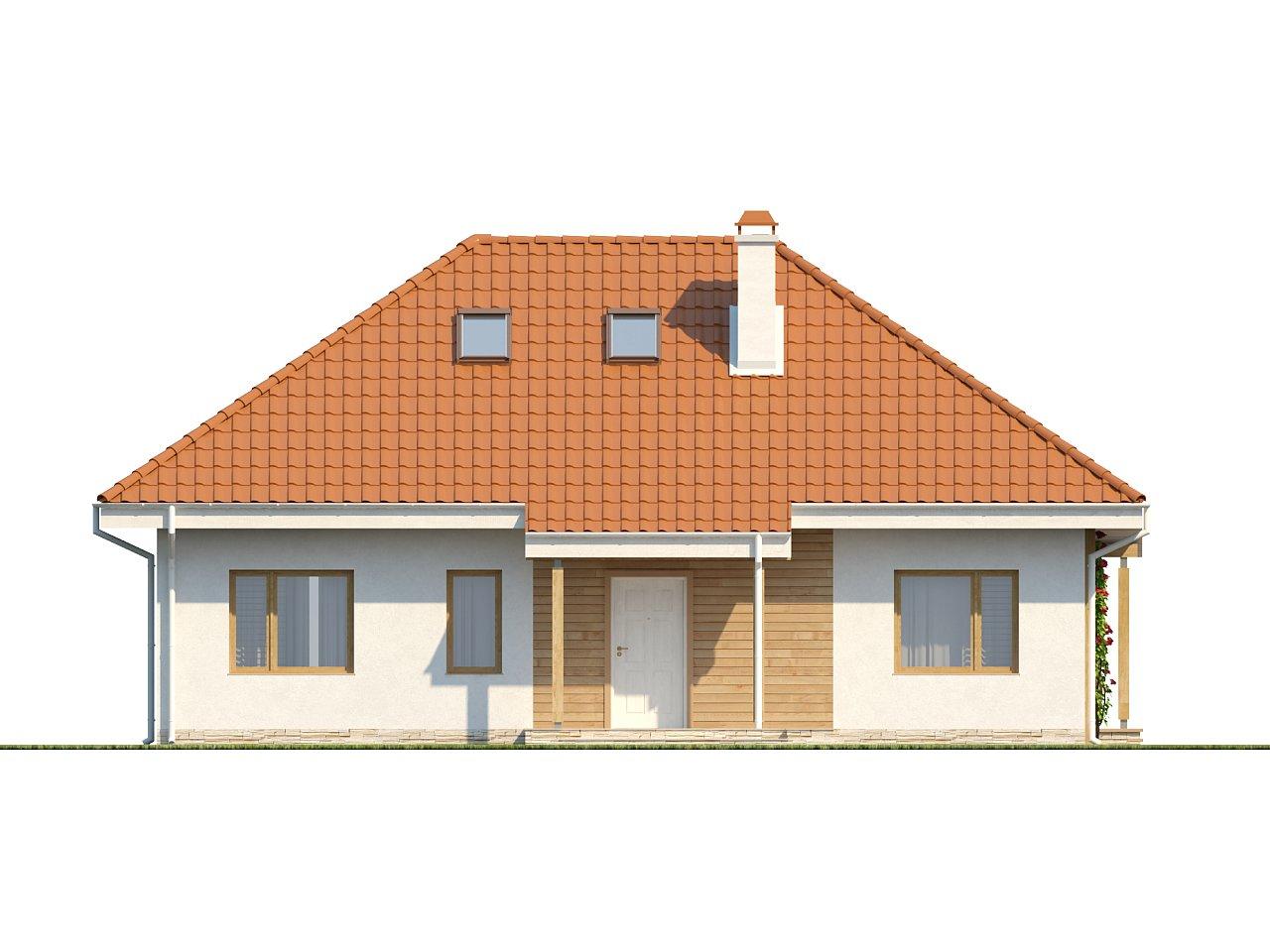 Одноэтажный дом в традиционном стиле с возможностью обустройства чердачного помещения. - фото 3