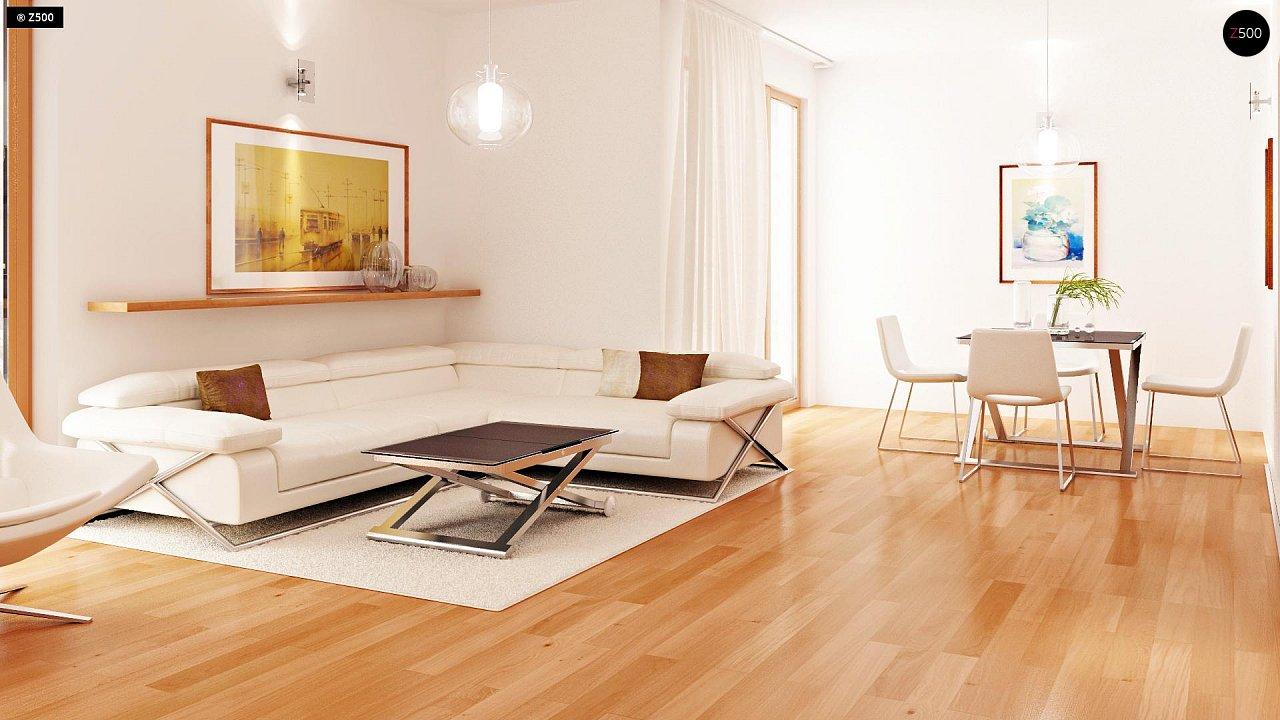 Проект стильного, функционального и недорогого двухсемейного дома. 4
