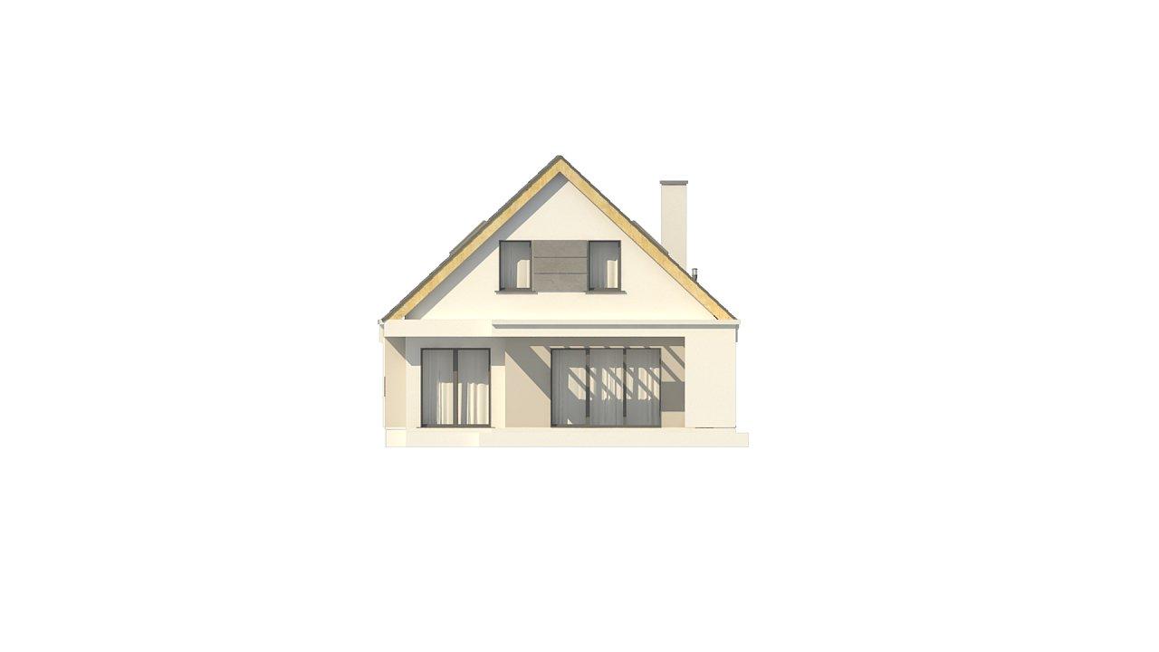 Проект классического мансардного дома с монохромным дизайном экстерьера 10