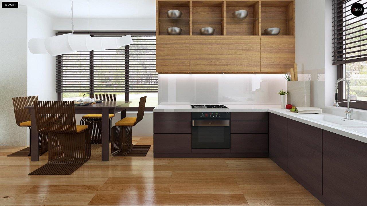 Небольшой дом с дополнительной комнатой на первом этаже, большим хозяйственным помещением и эркером в столовой. 7