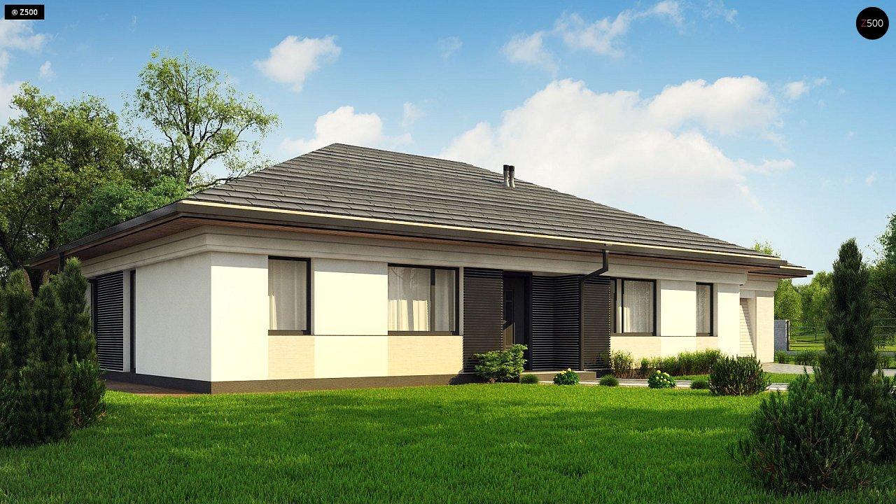 Прекрасный одноэтажный дом в современном стиле и гаражом на одну машину. - фото 3