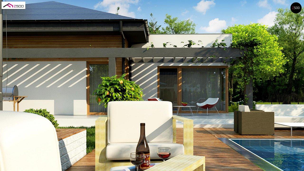 Современный дом с остроконечной крышей бунгало 3
