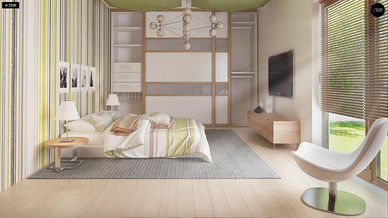 Стильный одноэтажный дом с комфортной крытой террасой 20