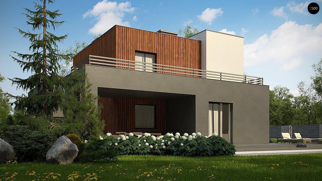 Современный дом с гаражом на 2 машины и террасой на первой 5