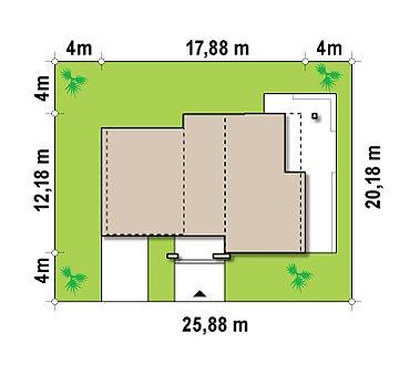 Современный добротный особняк в стиле хай-тек. план помещений 1