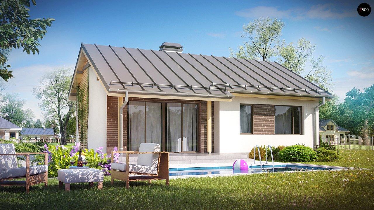 Простой и недорогой в строительстве одноэтажный дом небольшой площади. 2