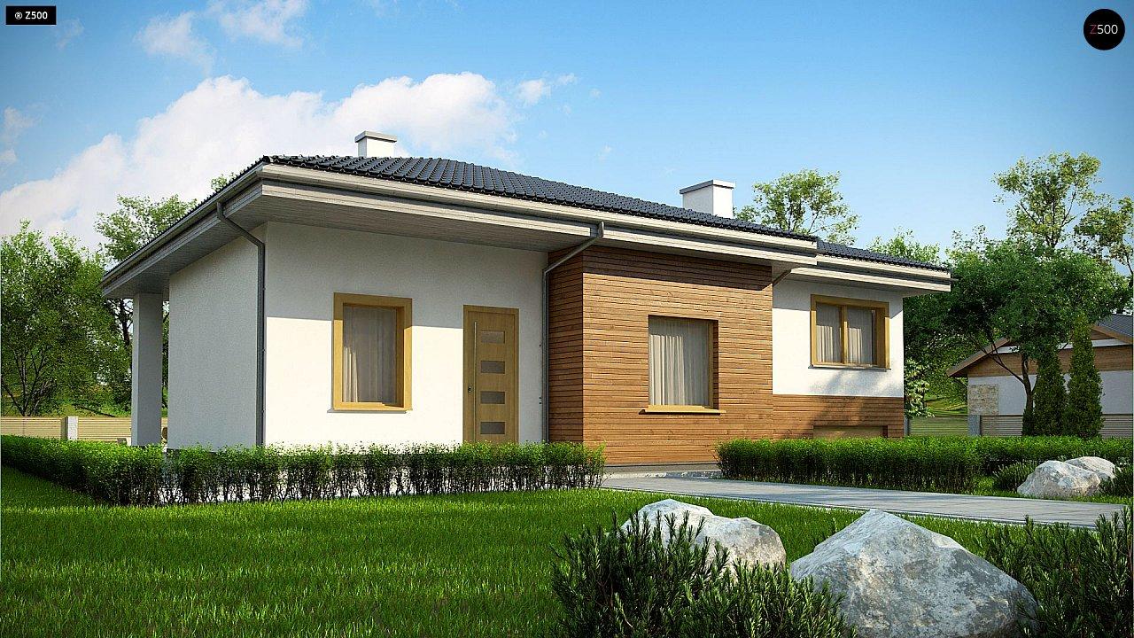 Красивый и комфортный однэтажный дом с цоколем 2