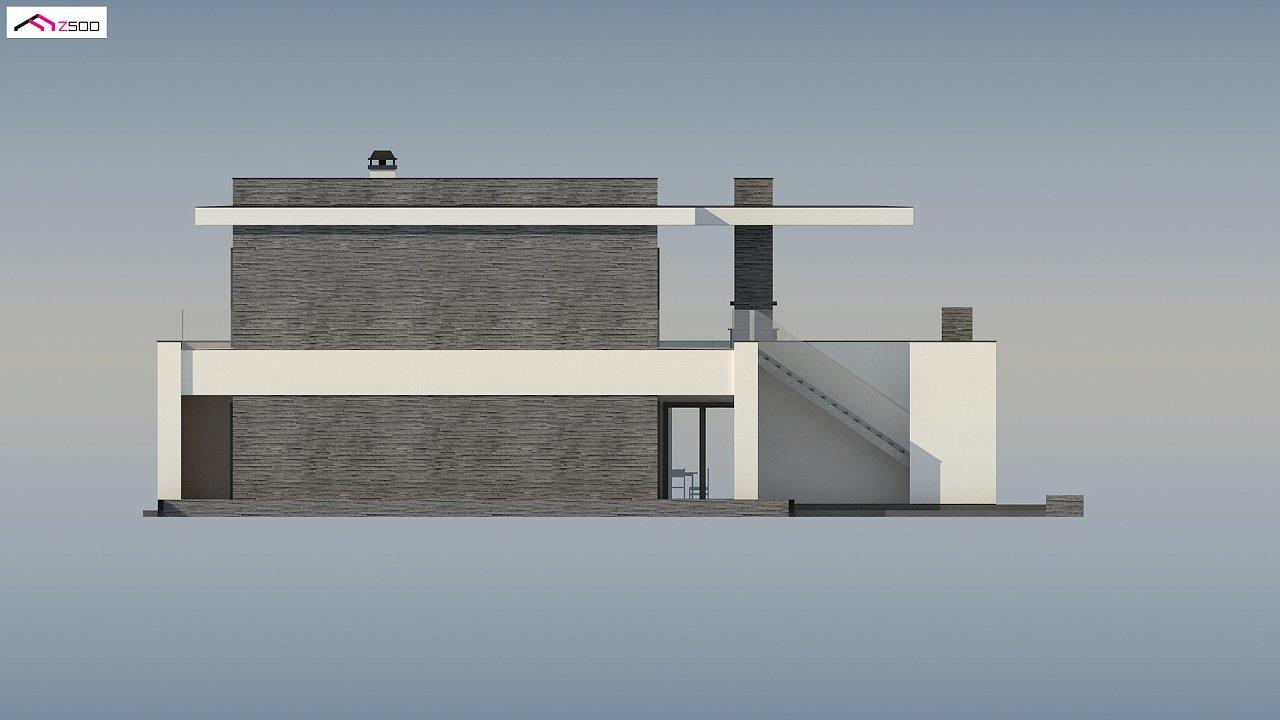 Стильный дом в современном стиле с просторной террасой на втором этаже. 8