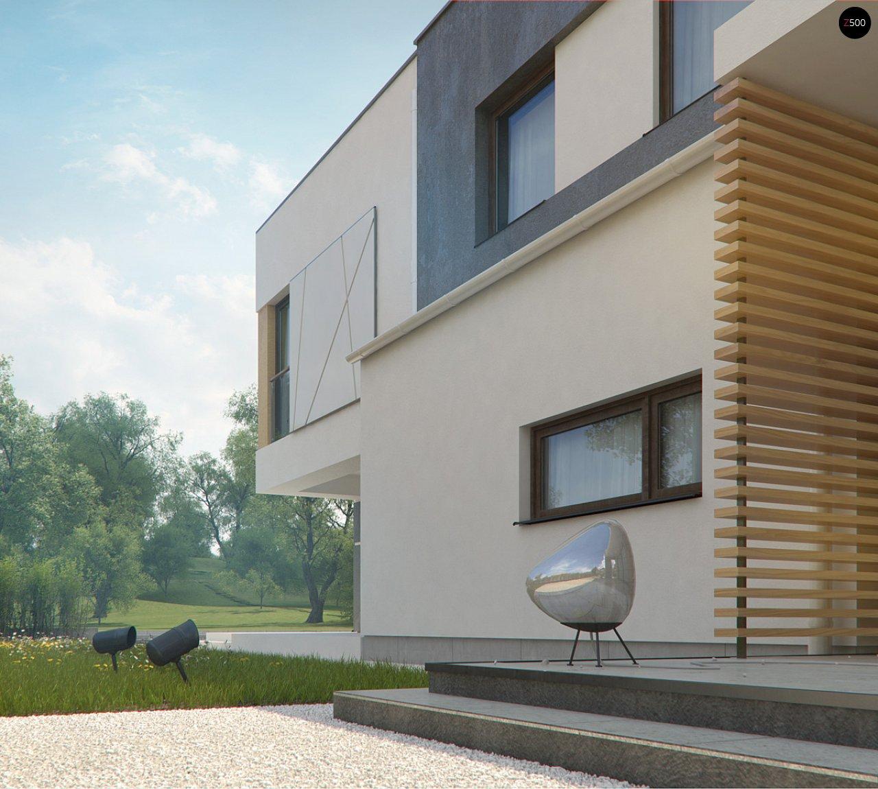 Дом характерного современного дизайна с гаражом и кабинетом на первом этаже. - фото 16