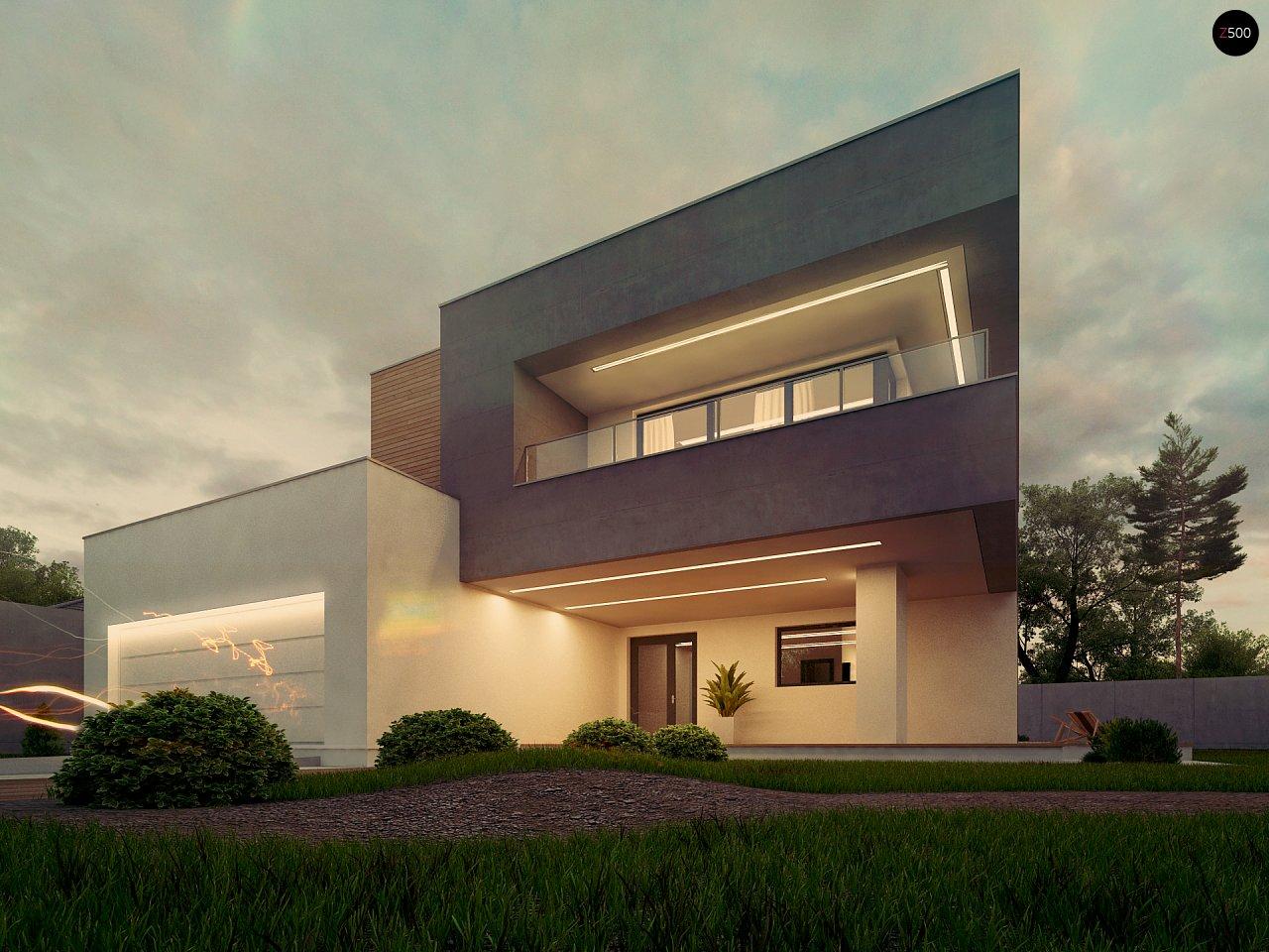 Современный двухэтажный дом с большой площадью остекления. - фото 9