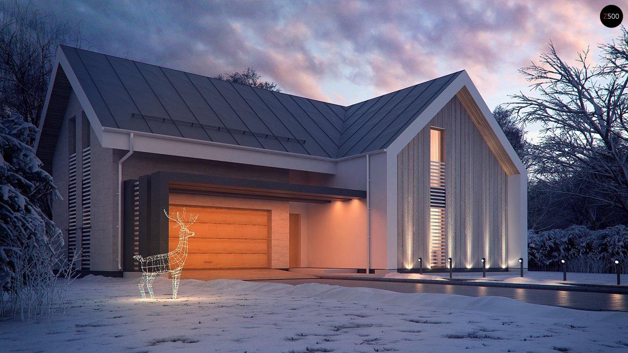Современный мансардный дом с гаражом на две машины - фото 3