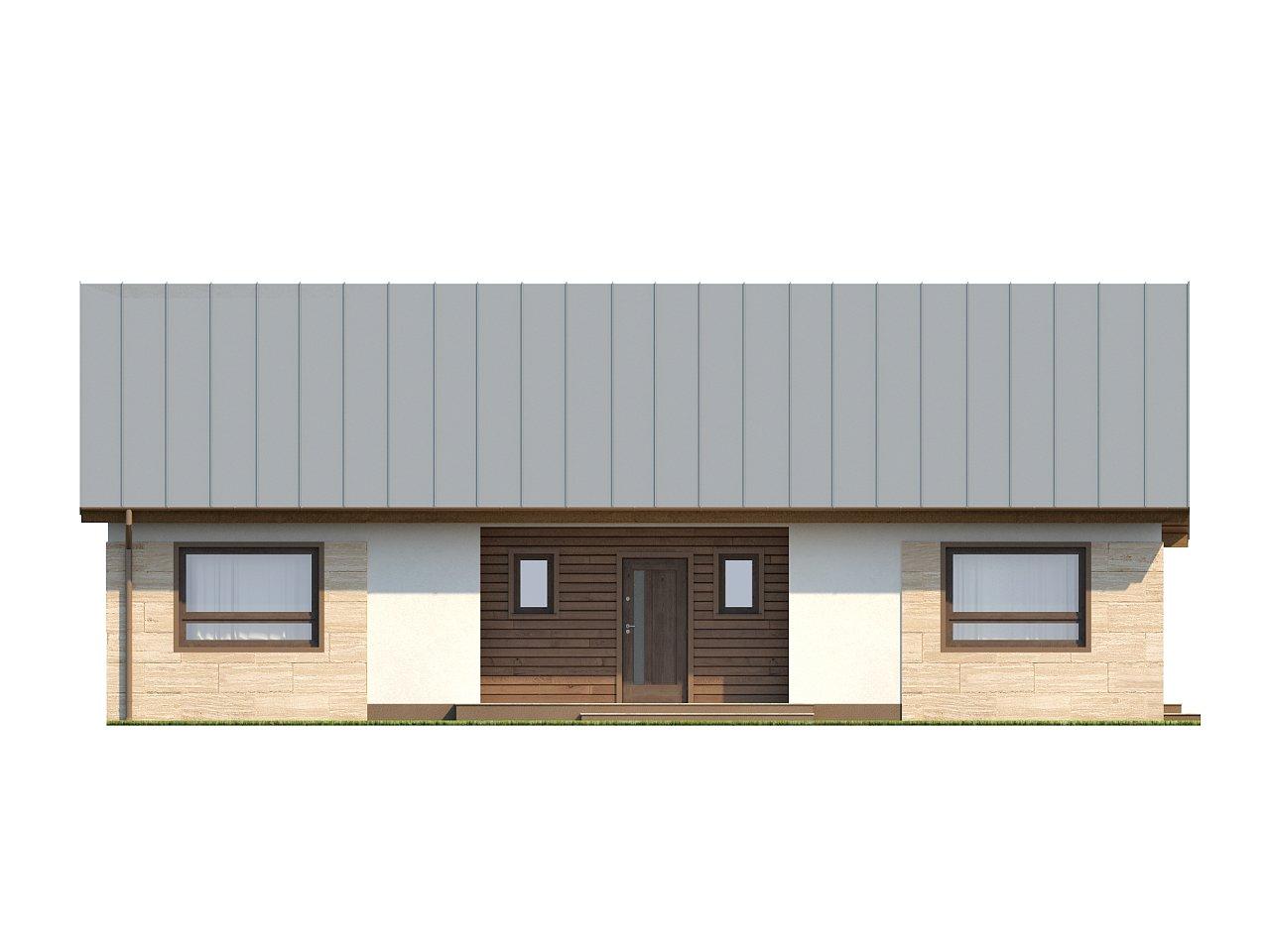Проект выгодного одноэтажного дома с возможностью адаптации чердачного помещения. 16