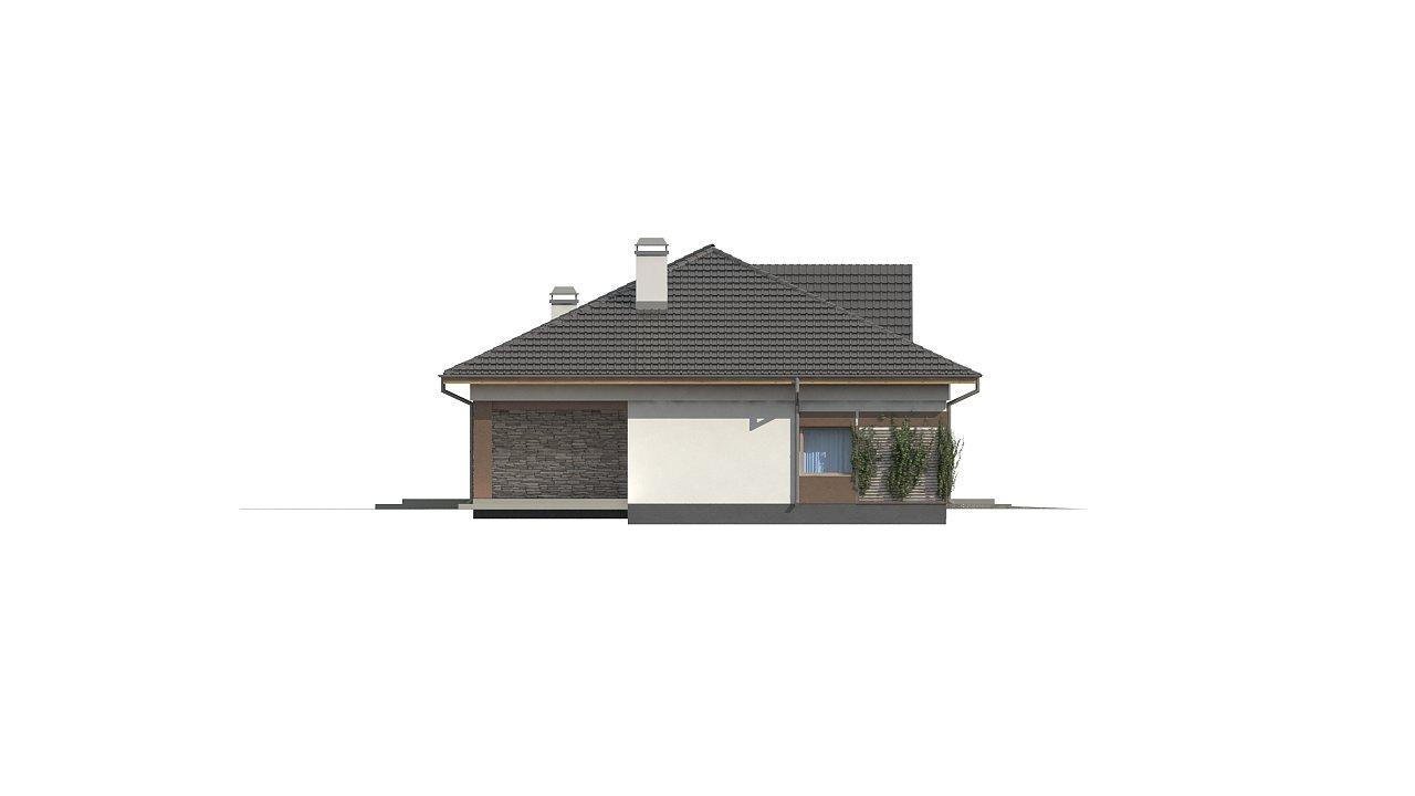 Версия дома Z153 с гаражом, встроенным в корпус здания. - фото 3