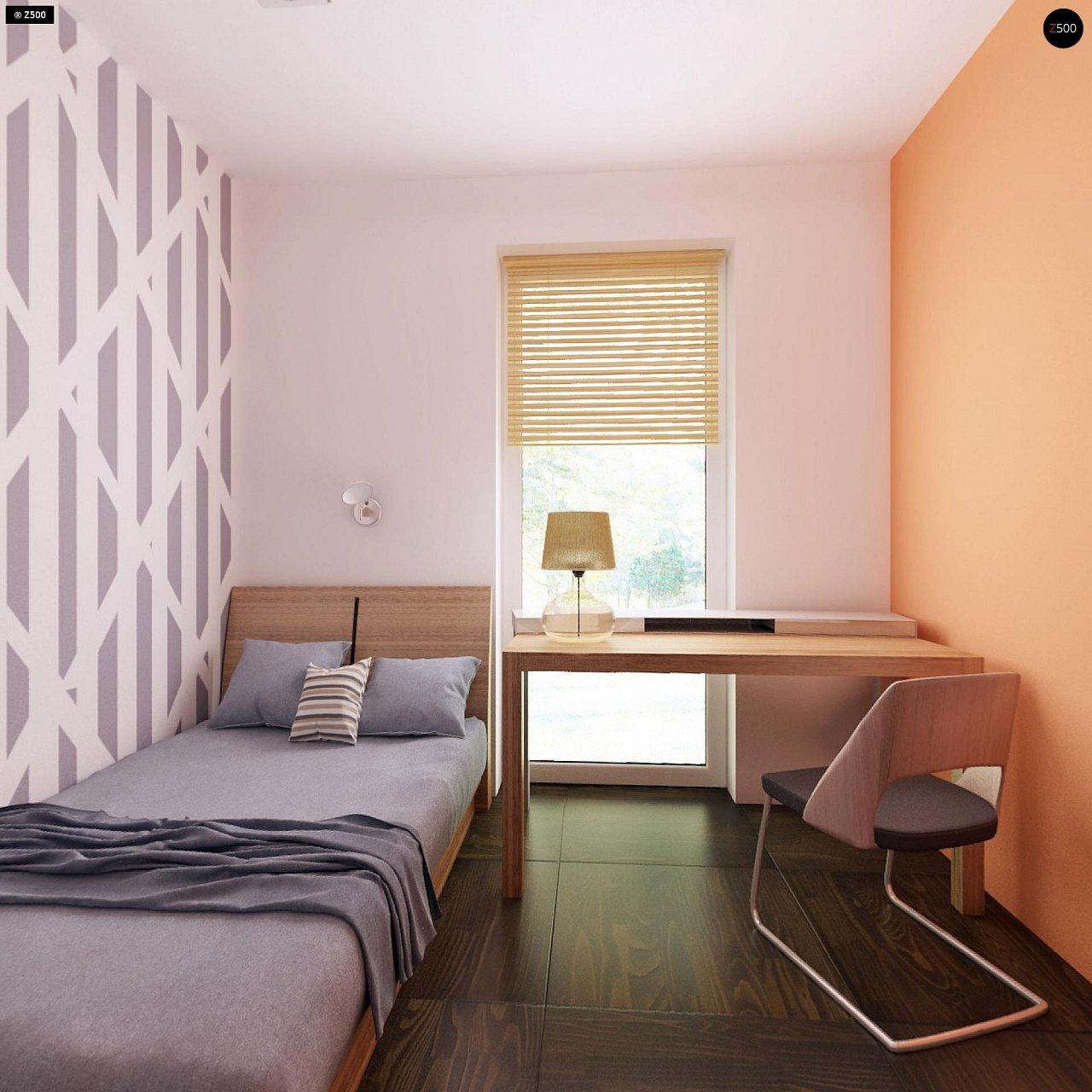 Дом традиционной формы с современными архитектурными дополнениями. Свободная планировка мансарды и антресоль над гостиной. 17