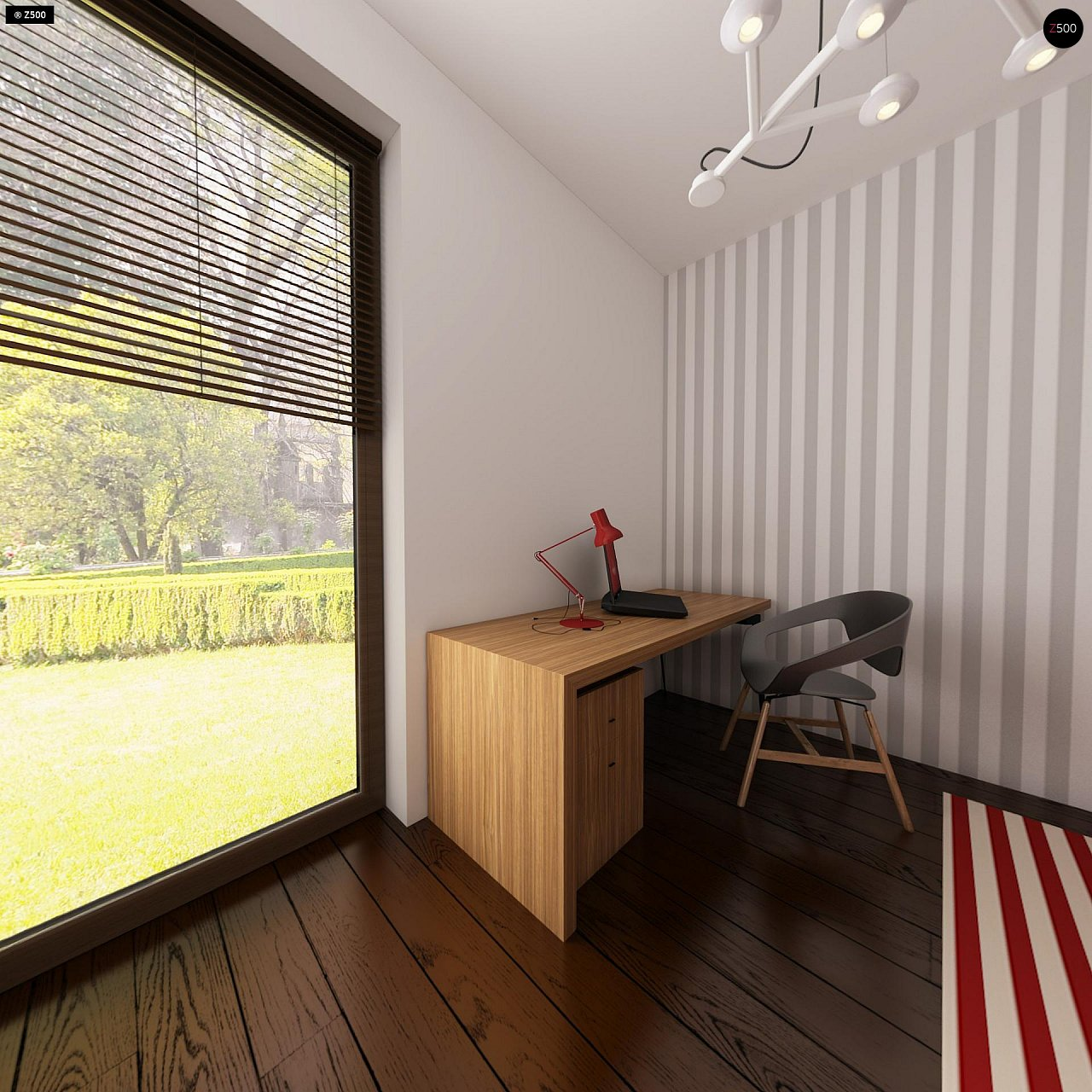 Проект небольшого практичного одноэтажного дома. Есть возможность обустройства чердачного помещения. 17