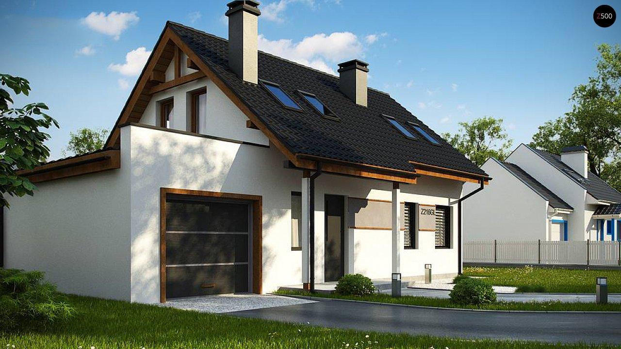 Вариант мансардного дома Z216 с гаражом на одну машину - фото 5