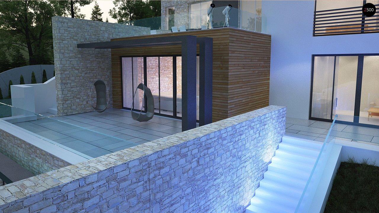 Трехэтажная современная резиденция с террасами и бассейном . 10