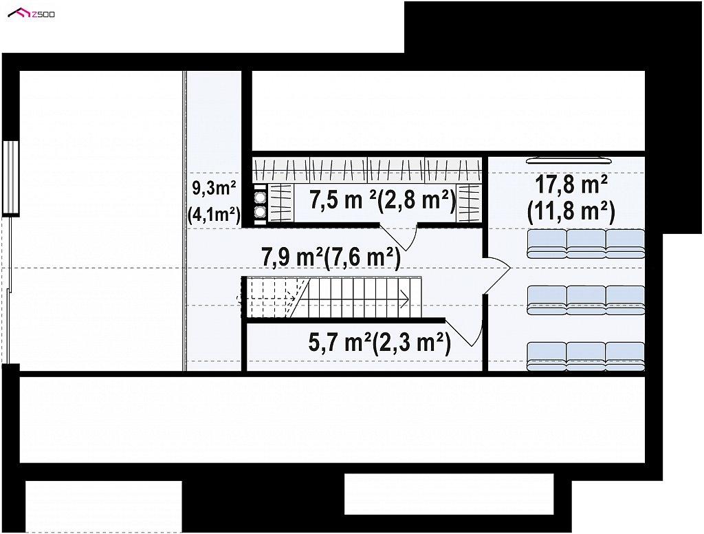 Одноэтажный дом с дополнительным пространством на чердаке план помещений 2