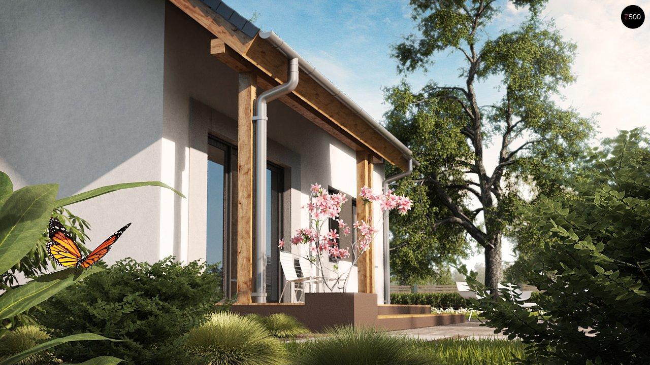 Проект практичного дома с большим хозяйственным помещением, с кабинетом на первом этаже. 3
