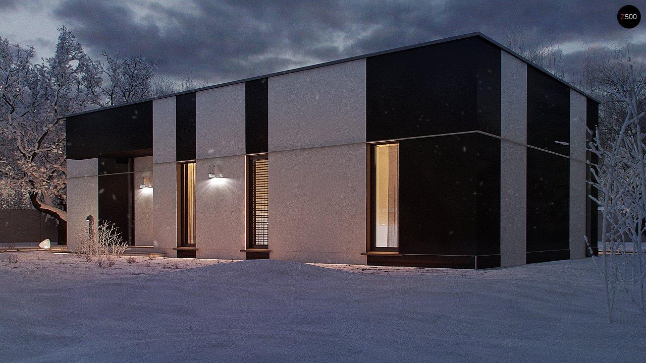 Одноэтажный комфортный дом в стиле хай-тек. 9