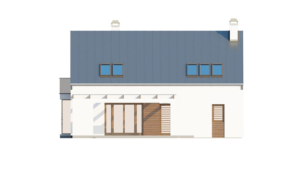 Комфортный дом с гаражом простого аккуратного дизайна. 4