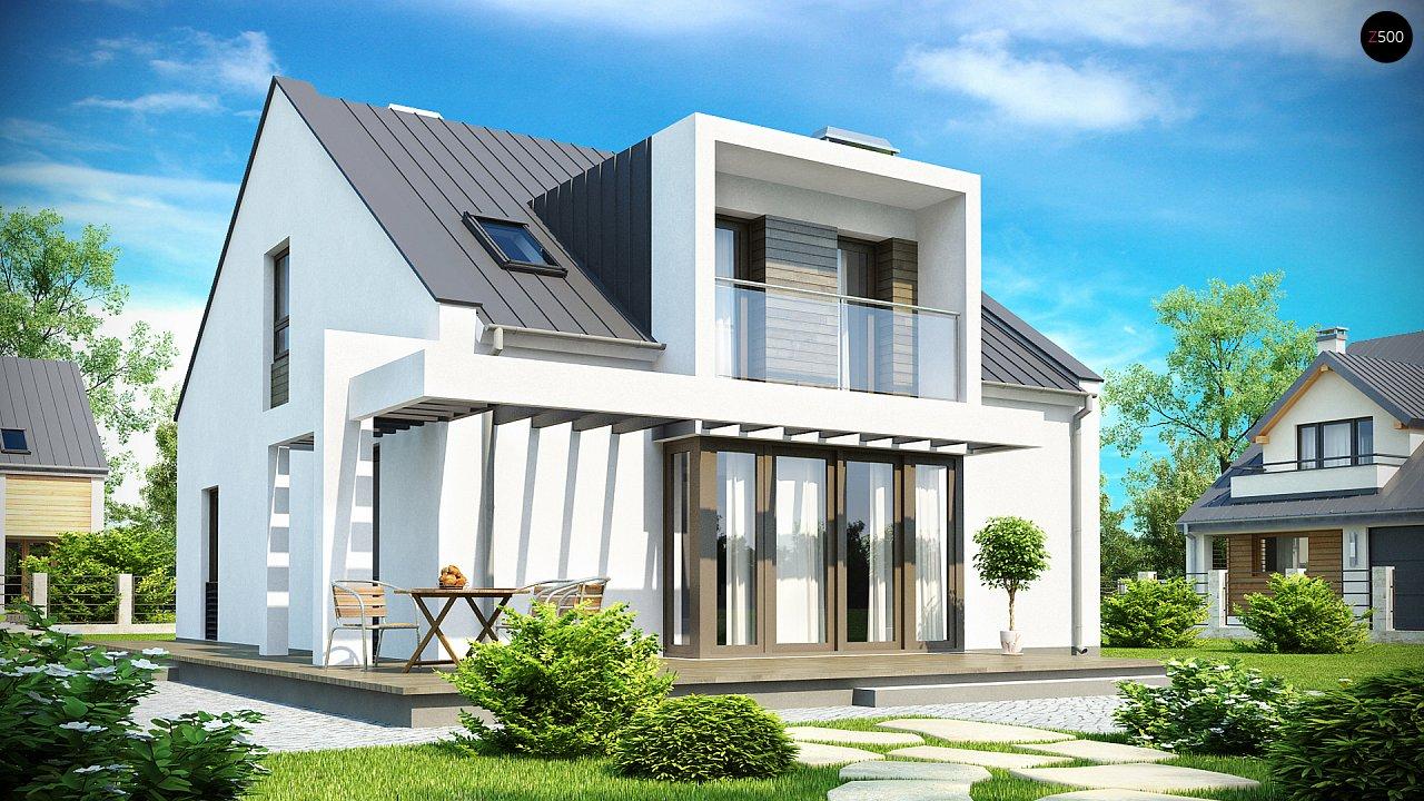 Современный дом с уютным и функциональным интерьером. Интересное сочетание двускатной крыши и кубических форм. - фото 2