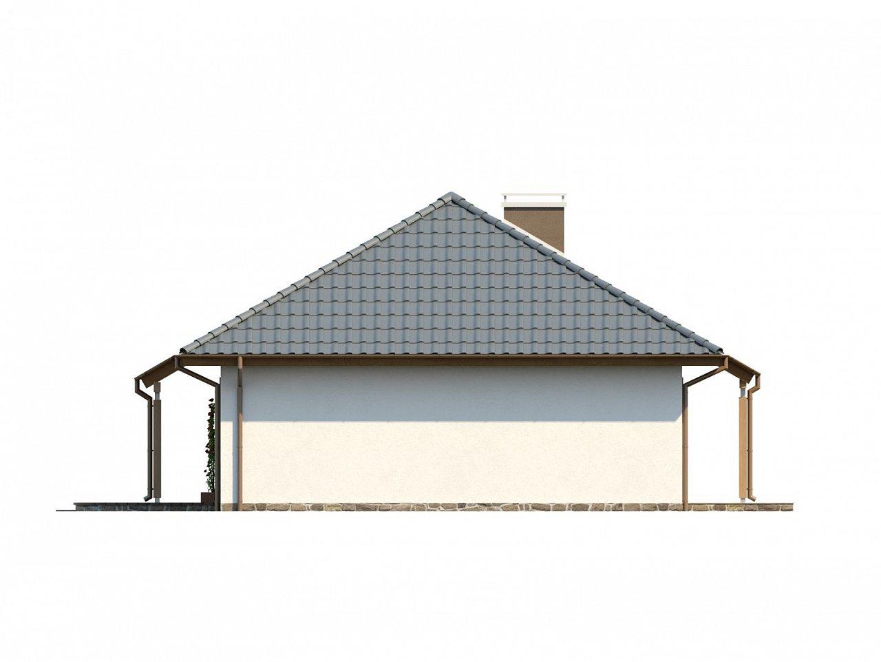 Проект одноэтажного классического дома адаптированного для каркасной технологии строительства. - фото 17