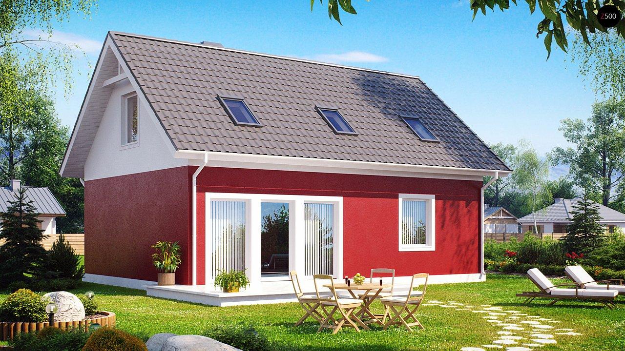 Практичный дом для небольшого участка, простой в строительстве, дешевый в эксплуатации. 1