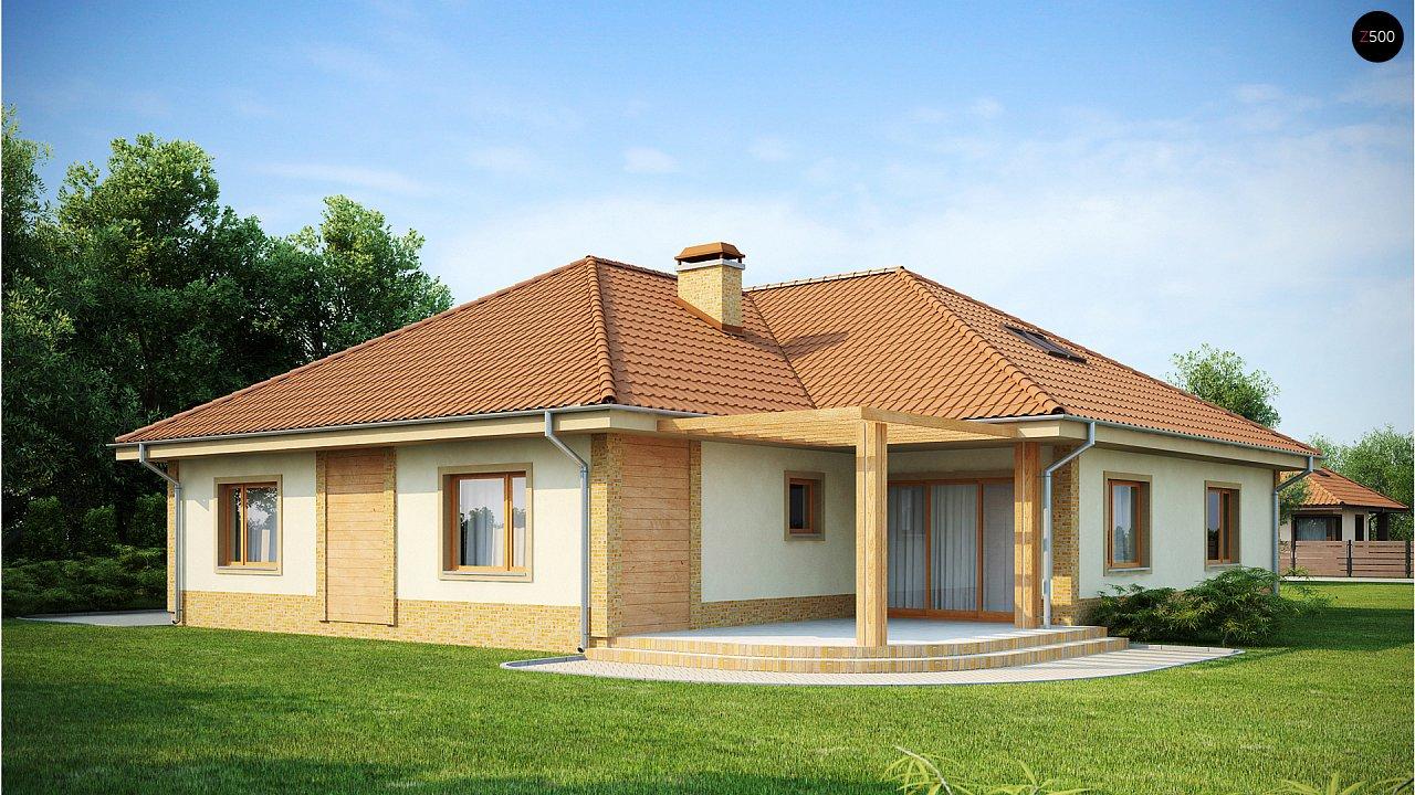Проект просторного одноэтажного дома с возможностью обустройства мансарды. 2