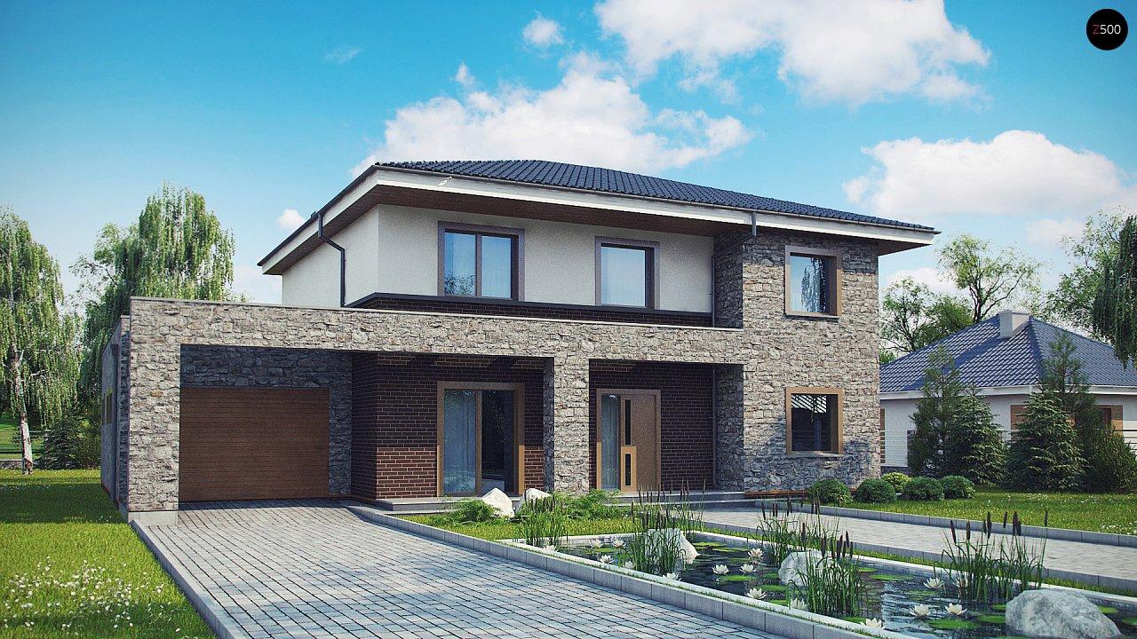 Проект дома с сауной в традиционном стиле - фото 1
