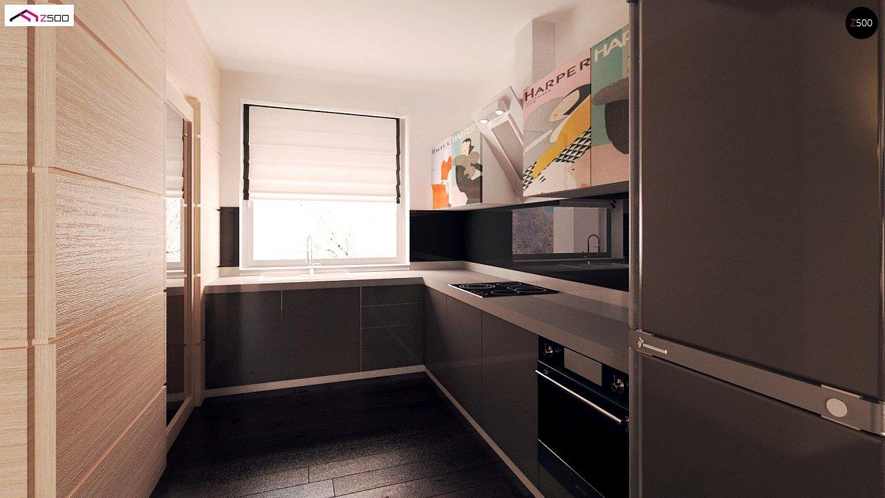 Компактный одноэтажный дом с двускатной крышей и 3 спальнями 10
