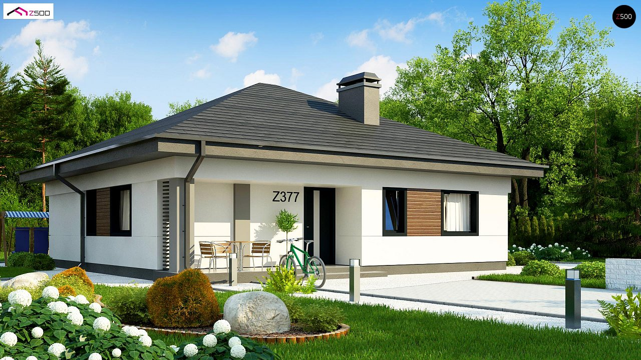 Небольшой домик с удобной планировкой 1