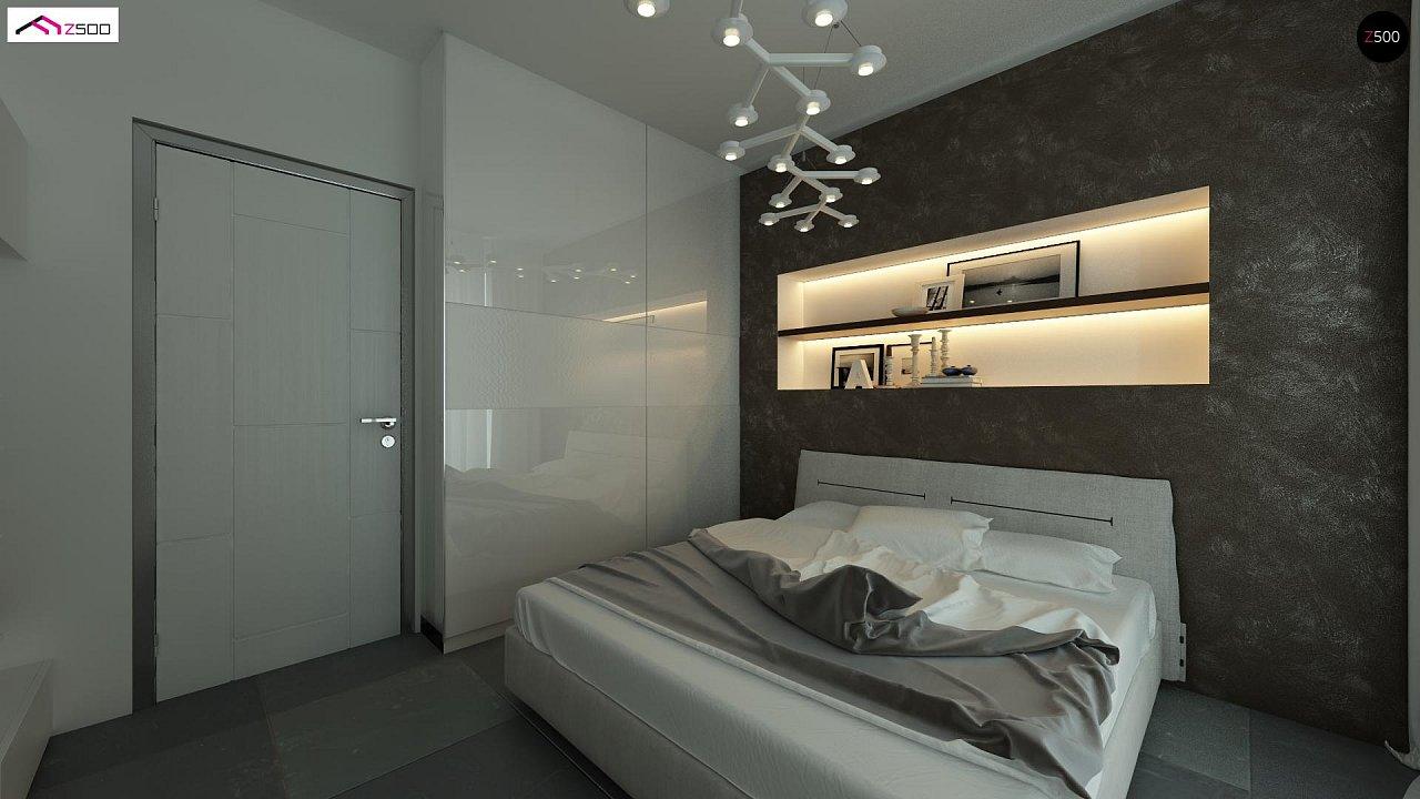 Дом со встроенным гаражом, красивым мансардным окном и вторым светом над гостиной. - фото 9