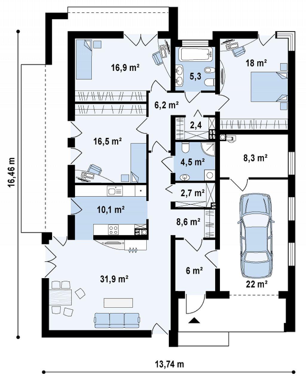 Прекрасное сочетание строгих минималистичных форм и уютного практичного интерьера. план помещений 1